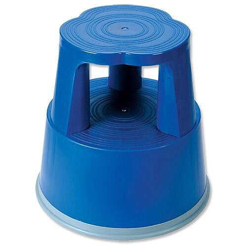 5 Star Step Stool Mobile Plastic Lightweight Strong Blue