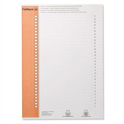 Card Inserts for Elba Ultimate Polypro Lateral File L130200 Pack 10x25