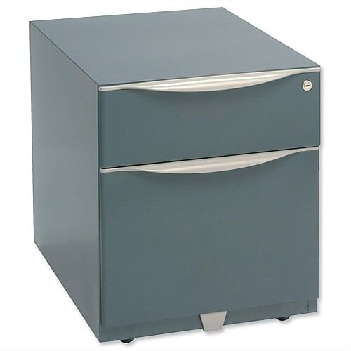 Bisley Wave Mobile Pedestal A4W Stationery and File Drawer 495H Grey WVA59MSF-F4