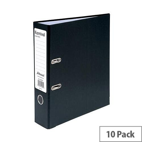 Rexel Karnival Lever Arch File 70mm A4 Black Pack of 10