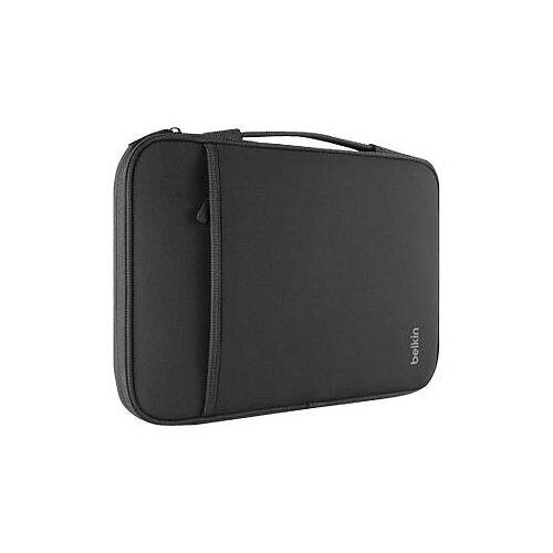 "Belkin B2B064-C00 13"" Laptop Chromebook Sleeve - black fleece, neopro laptop bag - zippered, secure closure, tear-resistant - designed for simplicity, comfort and style"