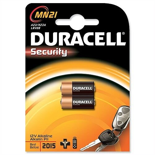 Duracell MN21 Battery Alkaline for Camera Calculator or Pager 1.2V 75072670 Pack 2