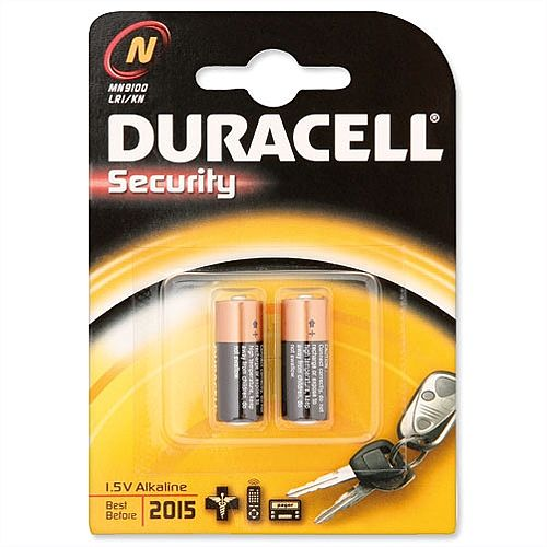 Duracell MN9100N Battery Alkaline for Camera Calculator or Pager 1.5V 81223600 Pack 2