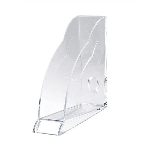 Magazine Rack Robust Clear Acrylic Front Indexing Tab Rexel Nimbus Pack of 6