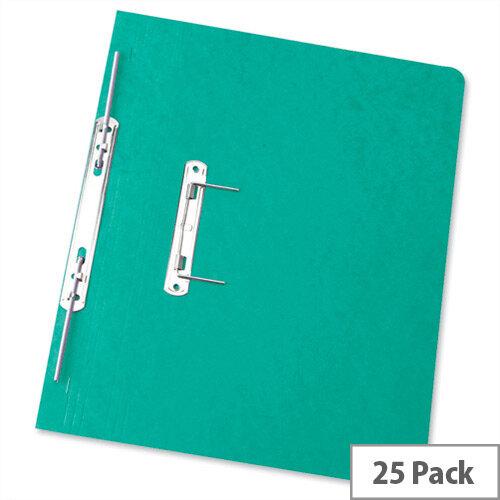 Foolscap Spiral Transfer Spring File Green 32mm Pack 25 Elba Boston