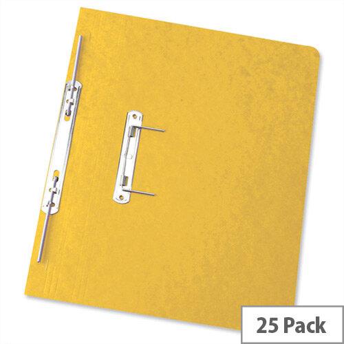 Foolscap Spiral Transfer Spring File Yellow 32mm Pack 25 Elba Boston