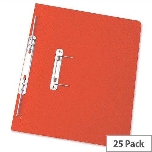 Foolscap Spiral Transfer Spring File Red 32mm Pack 25 Elba Boston