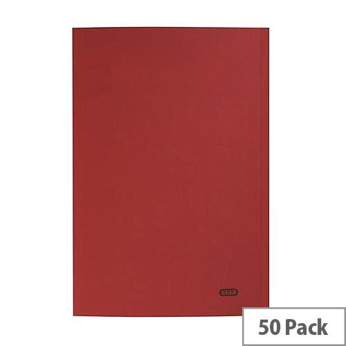 Elba StrongLine Square Cut Folder Heavyweight Capacity 32mm Foolscap Bordeaux Pack 50