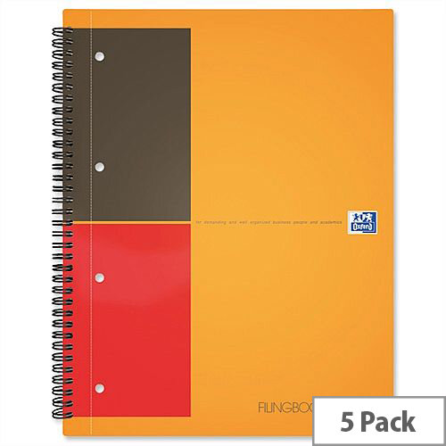Oxford International A5 Active Book Ruled 160 Pages Pack 5