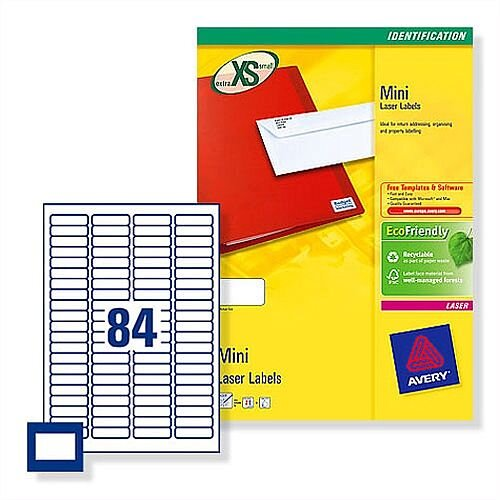 Avery 35mm Film Slide Labels 84 per Sheet L7656-25 2100 Labels