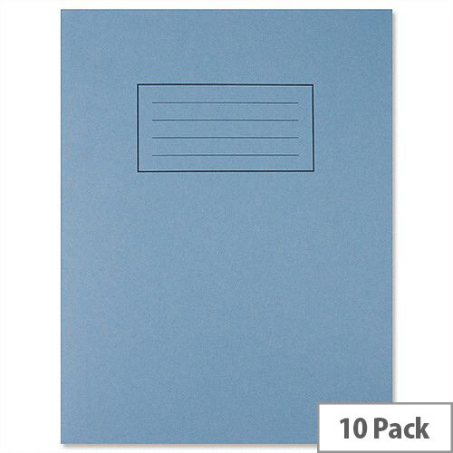 Silvine Exercise Book 7mm Squares 80 Pages 229x178mm Blue Ref EX106 [Pack 10]