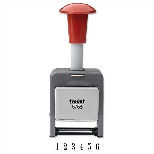 Trodat 5756 P Sequential Numberer Stamp Plastic Self Inking 8 Adjustments 5.5mm Digits
