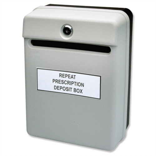 Post or Suggestion Box Wall-mountable with Fixings W235xD130xH310mm Grey Ref W81065