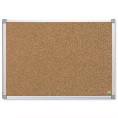 Bi-Office Earth-it Cork Notice Board with Aluminium Frame 900 x 600mm CA031790