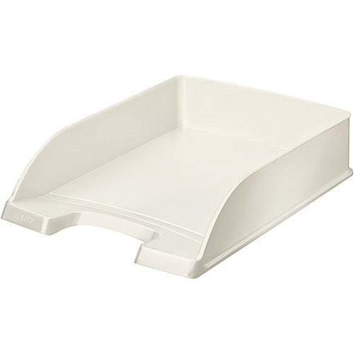 Leitz WOW Bright Letter Tray Stackable Glossy White Pearl Pack of 5