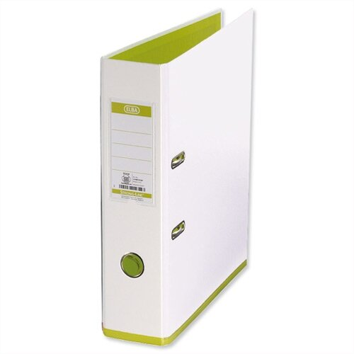 Elba MyColour Lever Arch File 80mm Polypropylene A4 White and Lime