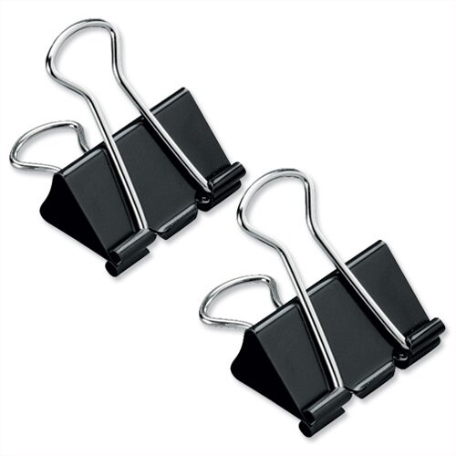 Foldback Clips 32mm Black Pack 12 5 Star