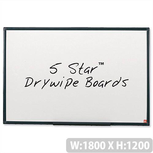 Whiteboard Lightweight 1800 x 1200mm 5 Star