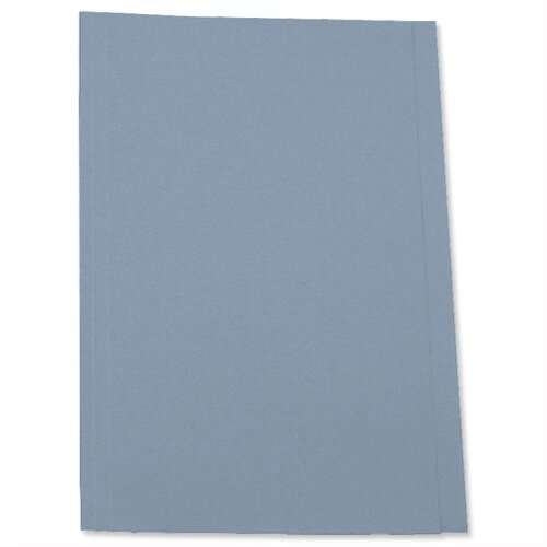 Square Cut Folder Recycled Pre-punched Foolscap Blue Pack 100 5 Star