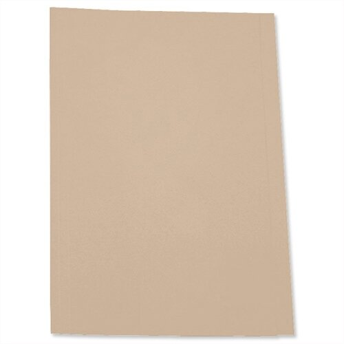 Foolscap Square Cut Folder Recycled Pre-punched Buff Pack 100 5 Star