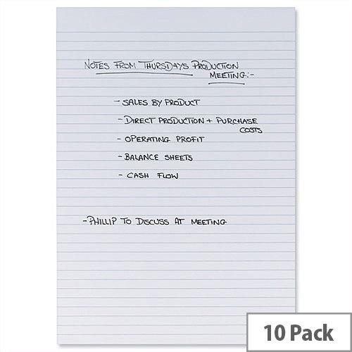 A4 Memo Pad White Pack 10 5 Star
