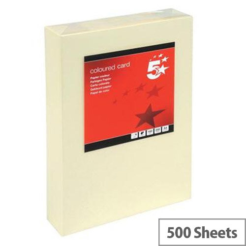 5 Star Light Cream A3 Paper 80gsm Multifunctional Coloured Ream-Wrapped 500 Sheets