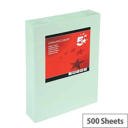 5 Star 80gsm Multifunctional Green A4 Paper Ream of 500 Sheets