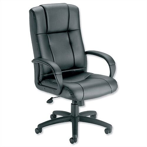 Sussex Leather Manager Office Chair Black Trexus Intro
