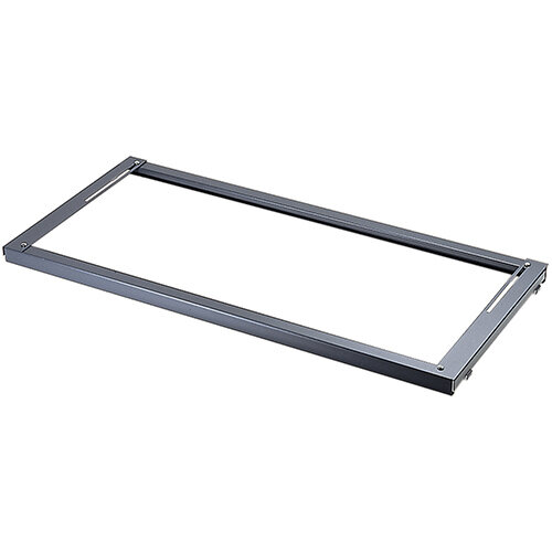 Lateral filing frame internal fitment for systems storage - graphite grey