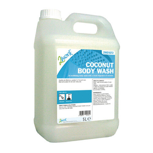 2Work Body &Hair Wash Fresh Coconut Fragrance 5L (Pack 1) 2W01072