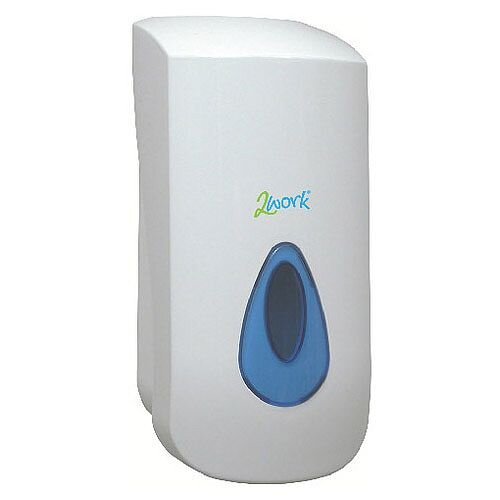 2Work White Foam Soap Dispenser Capacity 900ml 2W01102
