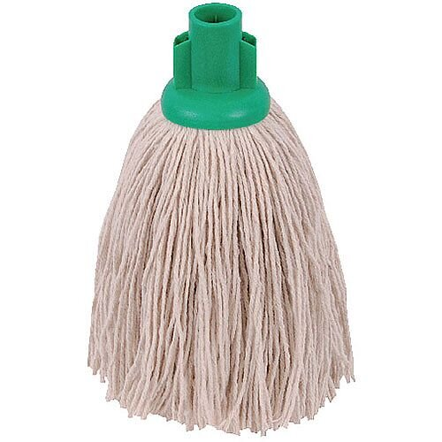 2Work 12oz Twine Rough Socket Mop Head Green Pack of 10 PJTG1210I