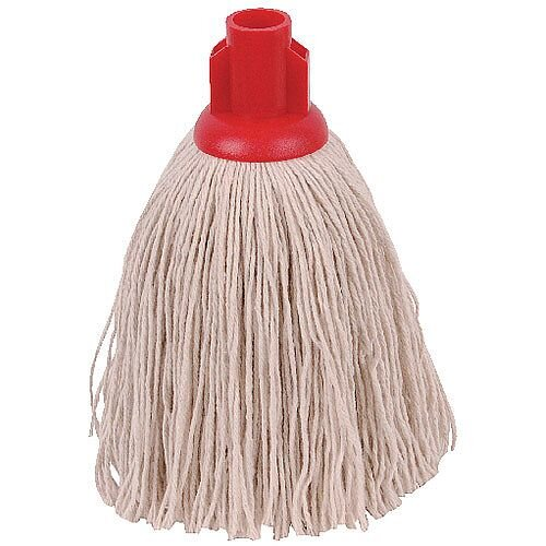 2Work 12oz Twine Rough Socket Mop Head Red Pack of 10 PJTR1210I