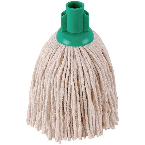 2Work 12oz PY Smooth Socket Mop Head Green Pack of 10 PJYG1210I