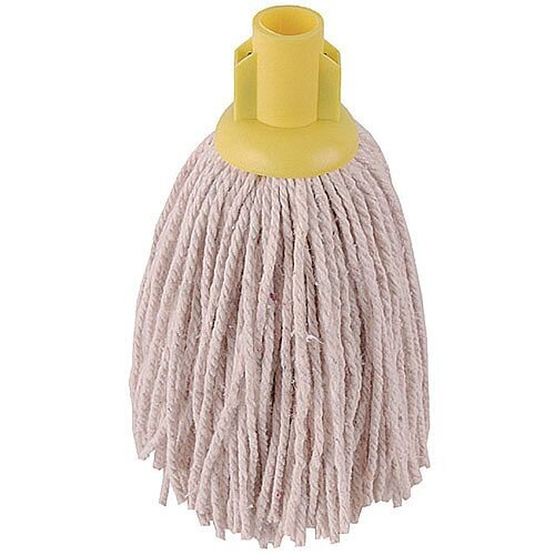 2Work 12oz PY Smooth Socket Mop Head Yellow Pack of 10 PJYY2320I