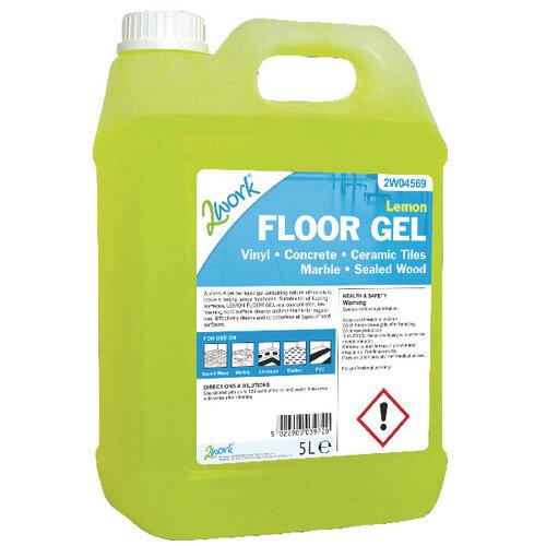 2Work Lemon Floor Cleaning Gel 5 Litre 2W04569