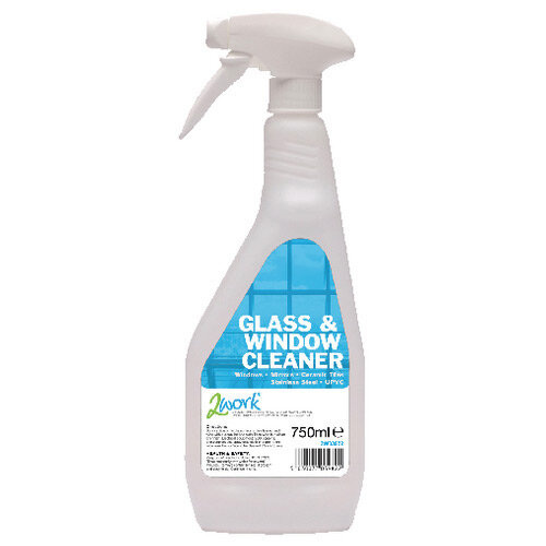 2Work Glass and Window Cleaner 750ml Trigger Spray Pack of 6