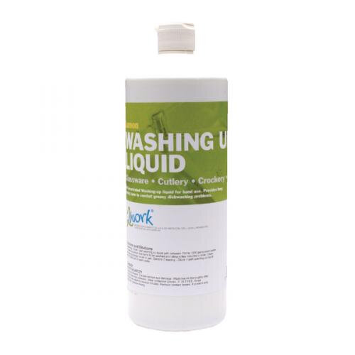 2Work Washing Up Liquid Lemon 1 Litre Pack 1 2W04589