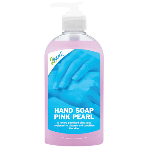 2Work Hand Soap 300ml Pink Pearl Pack of 6 402