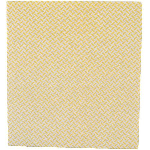 2Work Medium Weight Colour Coded Cleaning Cloths Yellow 38x40cm Pack of 5 CCYM4005I