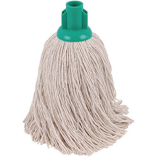 2Work 14oz Twine Rough Socket Mop Head Green Pack of 10 PJTG1410I