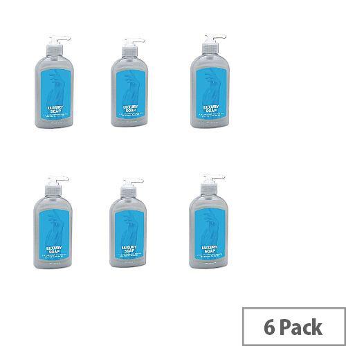 2Work Luxury Pearl Liquid Hand Soap 300ml Aloe Vera (6 Pack) 2W22905