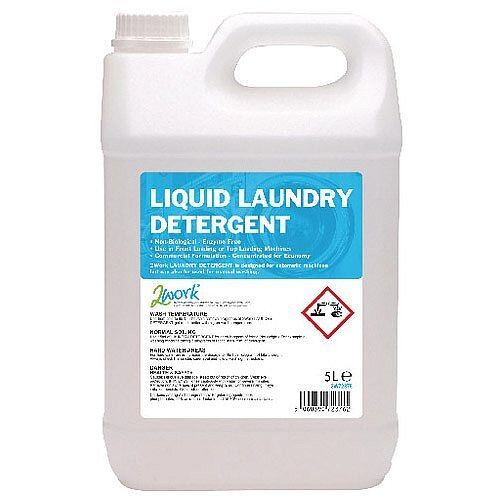 2Work Liquid Laundry Washing Detergent 5L Auto Dosing 2W72375