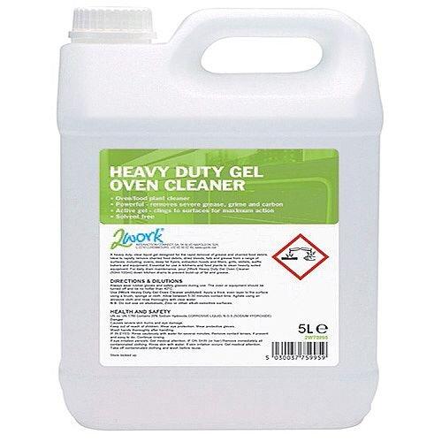 2Work Heavy Duty Gel Oven Cleaner 5 Litre 304