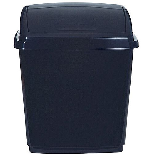 2Work Swing Top Bin 50 Litre Black RB02381