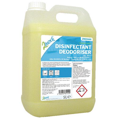 2Work Bactericidal Lemon Cleaner 5 Litre 2W85444
