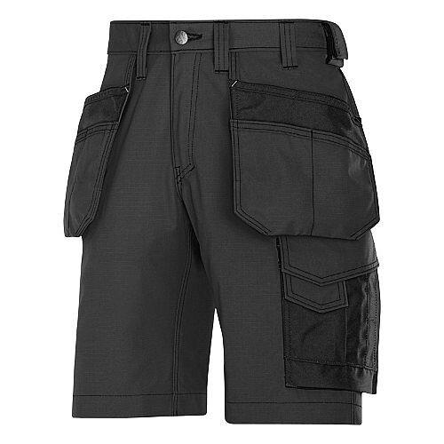"Snickers Craftsmen Holster Pocket Shorts Black Waist 44"" Inside leg 32"" WW1"