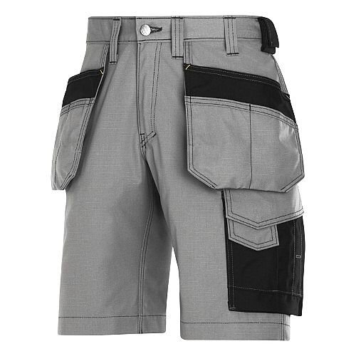 "Snickers Craftsmen Holster Pocket Shorts Grey Waist 39"" Inside leg 32"" WW1"