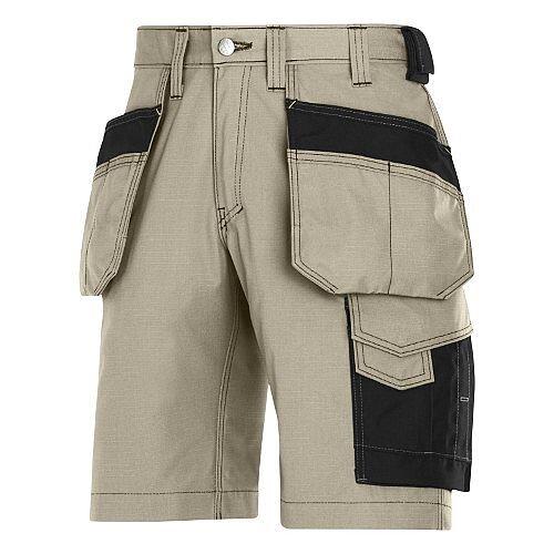 "Snickers Craftsmen Holster Pocket Shorts Khaki Waist 38"" Inside leg 32"" WW1"