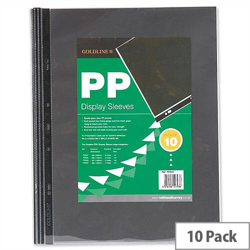 Goldline A1 Display Sleeves 9 Hole Clear Pack 10